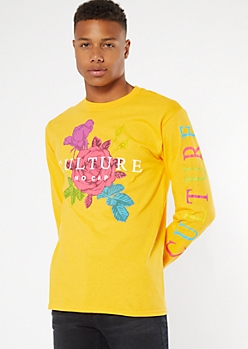 Yellow Culture Rose Graphic Tee