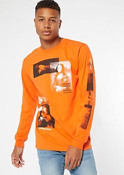 Orange Mona Lisa Graphic Tee