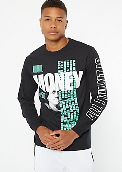 Black All I Want Is Money Graphic Tee
