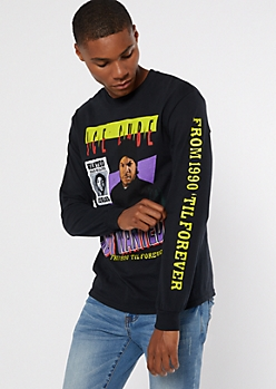 Black Ice Cube Long Sleeve Graphic Tee