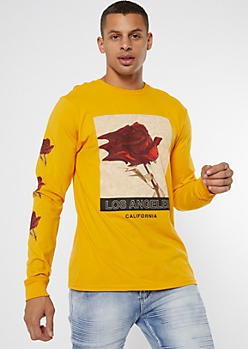Yellow Rose Los Angeles Graphic Tee