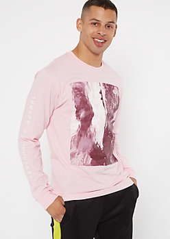 Pink Paint Abnormal Graphic Tee