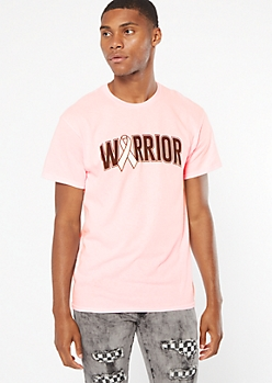 Pink Ribbon Warrior Graphic Tee