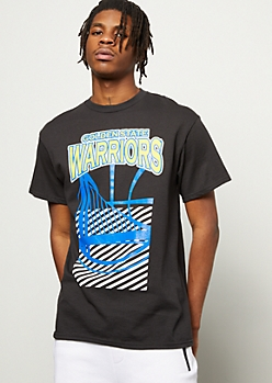 NBA Golden State Warriors Slanted Logo Graphic Tee