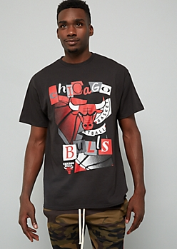 NBA Chicago Bulls Black Ransom Letters Graphic Tee