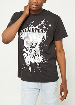 San Antonio Spurs Paint Splattered Logo Tee