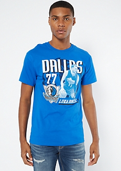 Blue Luka Doncic Dallas Mavericks Graphic Tee