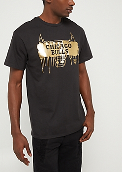 Black & Gold Chicago Bulls Graphic Tee