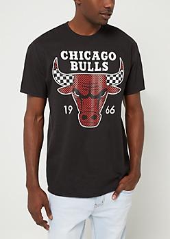 Black Chicago Bulls Graphic Tee