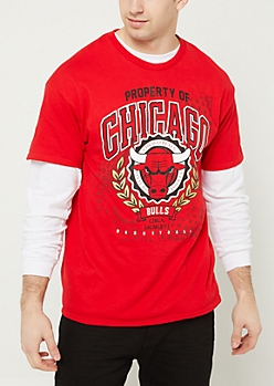Red Property of Chicago Bulls Tee
