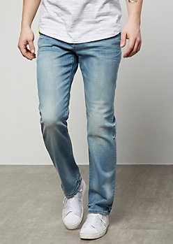 Flex Light Wash Straight Jeans