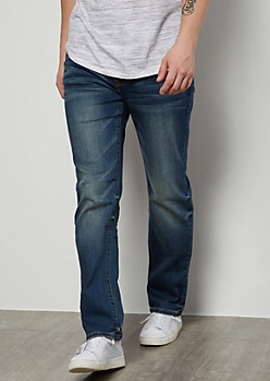 Flex Medium Wash Straight Jeans