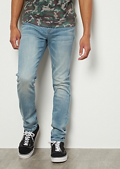 Ultra Flex Light Wash Super Skinny Jeans