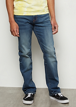 Ultra Flex Medium Wash Straight Jeans