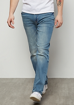 Ultra Flex Light Wash Slim Jeans