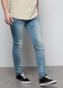 Flex Light Wash Super Skinny Jeans
