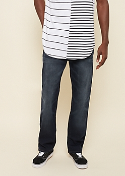 Flex Dark Wash Relaxed Straight Jeans