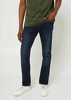 Flex Dark Wash Slim Straight Jeans