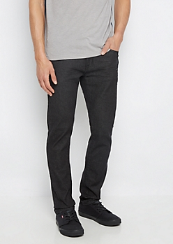 Flex Vintage Black Nicked Skinny Jeans