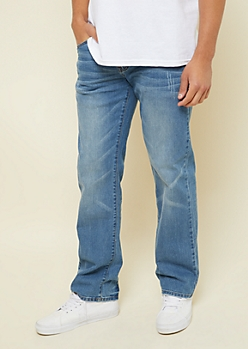 Flex Medium Wash Sandblasted Bootcut Jeans