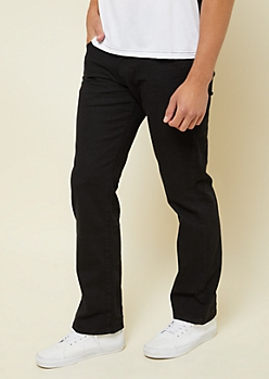 Flex Black Distressed Bootcut Jeans