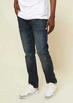 Freedom Flex Dirty Washed Slim Straight Jeans