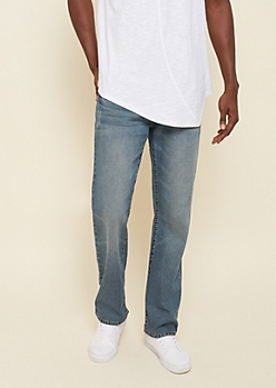 Flex Light Wash Relaxed Straight Jeans