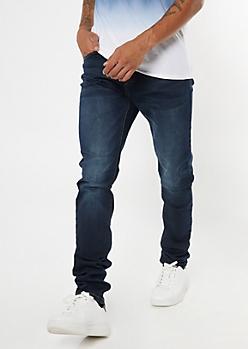 Dark Wash Stacked Skinny Jeans