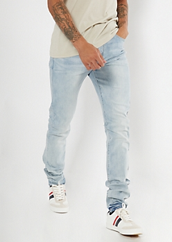 Light Wash Stacked Skinny Jeans