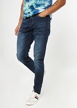 Dark Wash Slim Taper Jeans