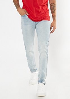 Light Wash Slim Taper Jeans