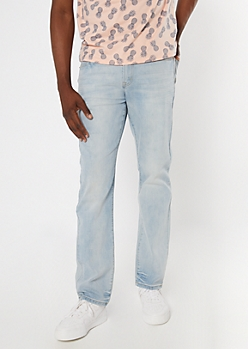 Ultra Flex Light Wash Straight Jeans
