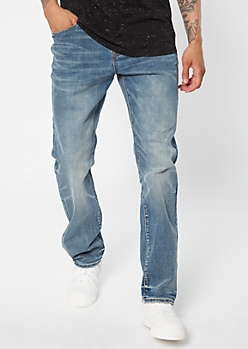 Ultra Flex Medium Wash Straight Leg Jeans