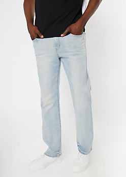 Ultra Flex Light Wash Bootcut Jeans
