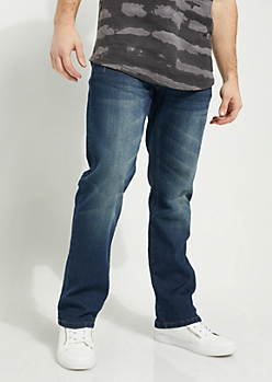Flex Dark Blue Sandblasted Bootcut Jeans