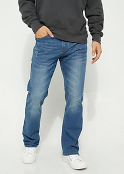 Flex Medium Blue Sandblasted Bootcut Jeans