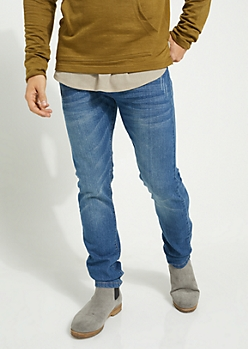 Flex Medium Blue Sandblasted Skinny Jeans