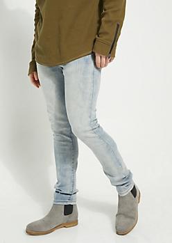 Flex Light Blue Sandblasted Super Skinny Jeans
