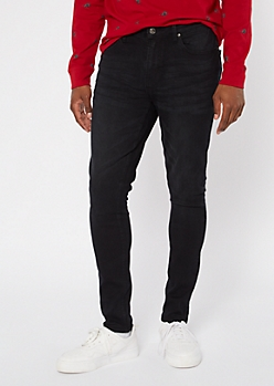 Black Slim Taper Jeans