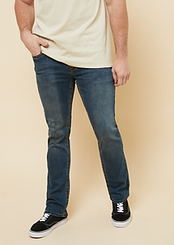 Dark Wash Topstitched Pocket Bootcut Jeans