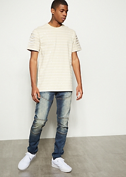 Flex Dark Wash Seamed Skinny Jeans