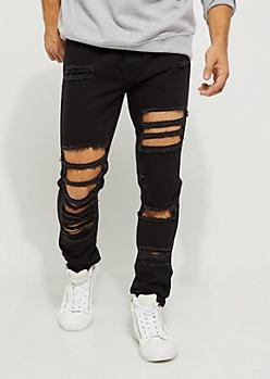 Flex Black Destroyed Skinny Pants
