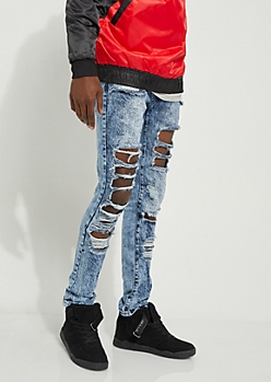 Flex Vintage Extreme Torn Skinny Jeans
