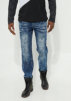 Flex Bleached Medium Wash Bootcut Jeans