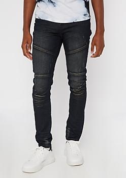 Dark Rise Wash Seamed Skinny Jeans