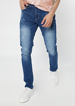 Supreme Flex Dark Wash Stitched Skinny Jeans