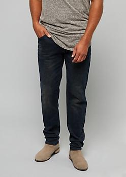 Dark Wash Flex Denim Slim Straight Jeans