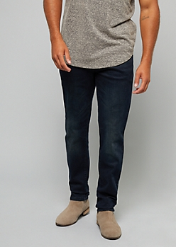 Dark Rinse Flex Denim Slim Straight Jeans