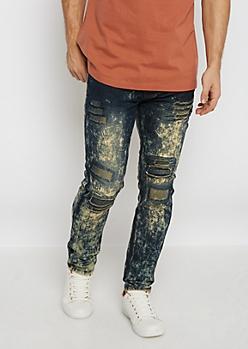 Flex Dirty Acid Destroyed Skinny Jeans