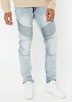 Supreme Flex Light Wash Drawstring Jogger Skinny Jeans